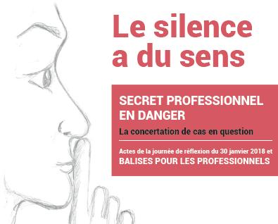 Le Silence A Du Sens : Secret Professionnel En Danger